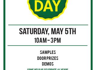 Customer Appreciation Day - Saturday May 5th
