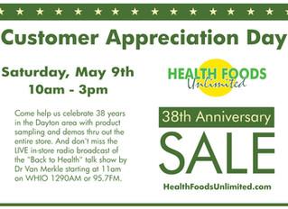Customer Appreciation Day, May 9th