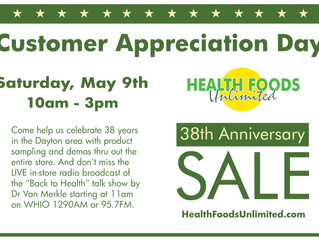 Customer Appreciation Day, May 9th
