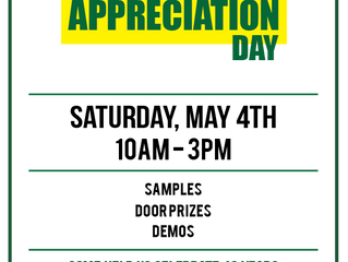 Customer Appreciation Day - Saturday May 4th