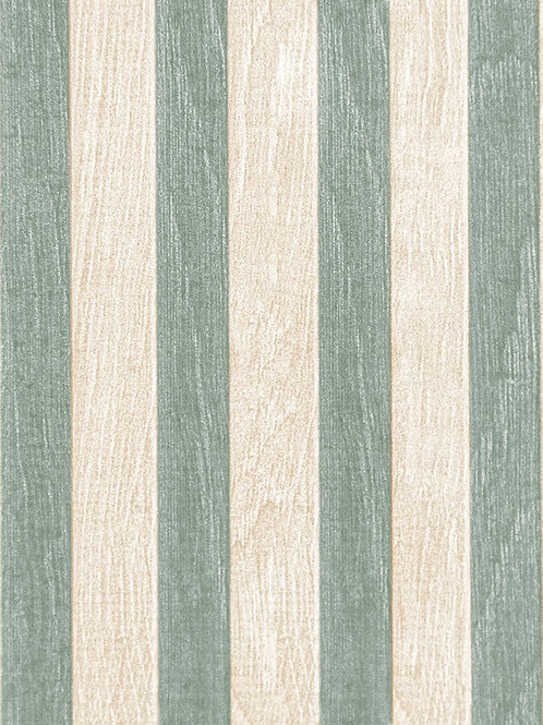 Pastel Green Striped Wooden Plank