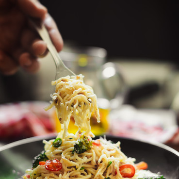 Pasta at Le 15 Cafe by Chef Pablo