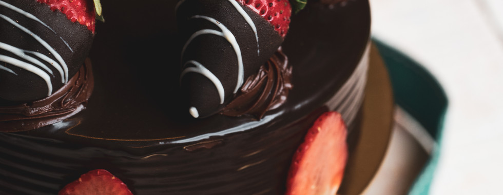 Dark Chocolate cake by The Rolling Pin