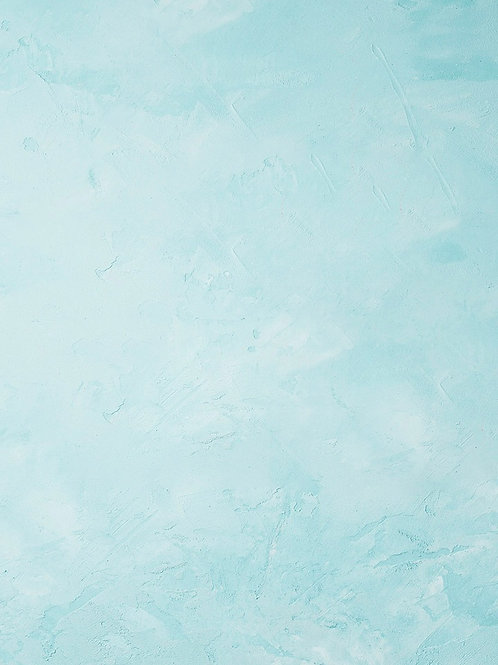 Pastel Blue Spackle Wall