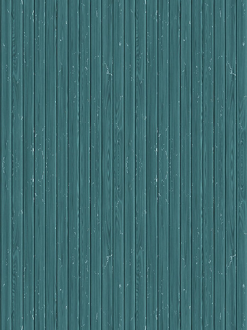 Quirky Teal Wood