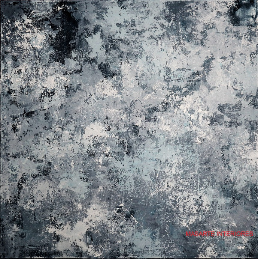 ABSTRACT GRAY 100x100