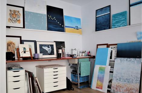 Zona de arte del estudio de Masarte Interiores