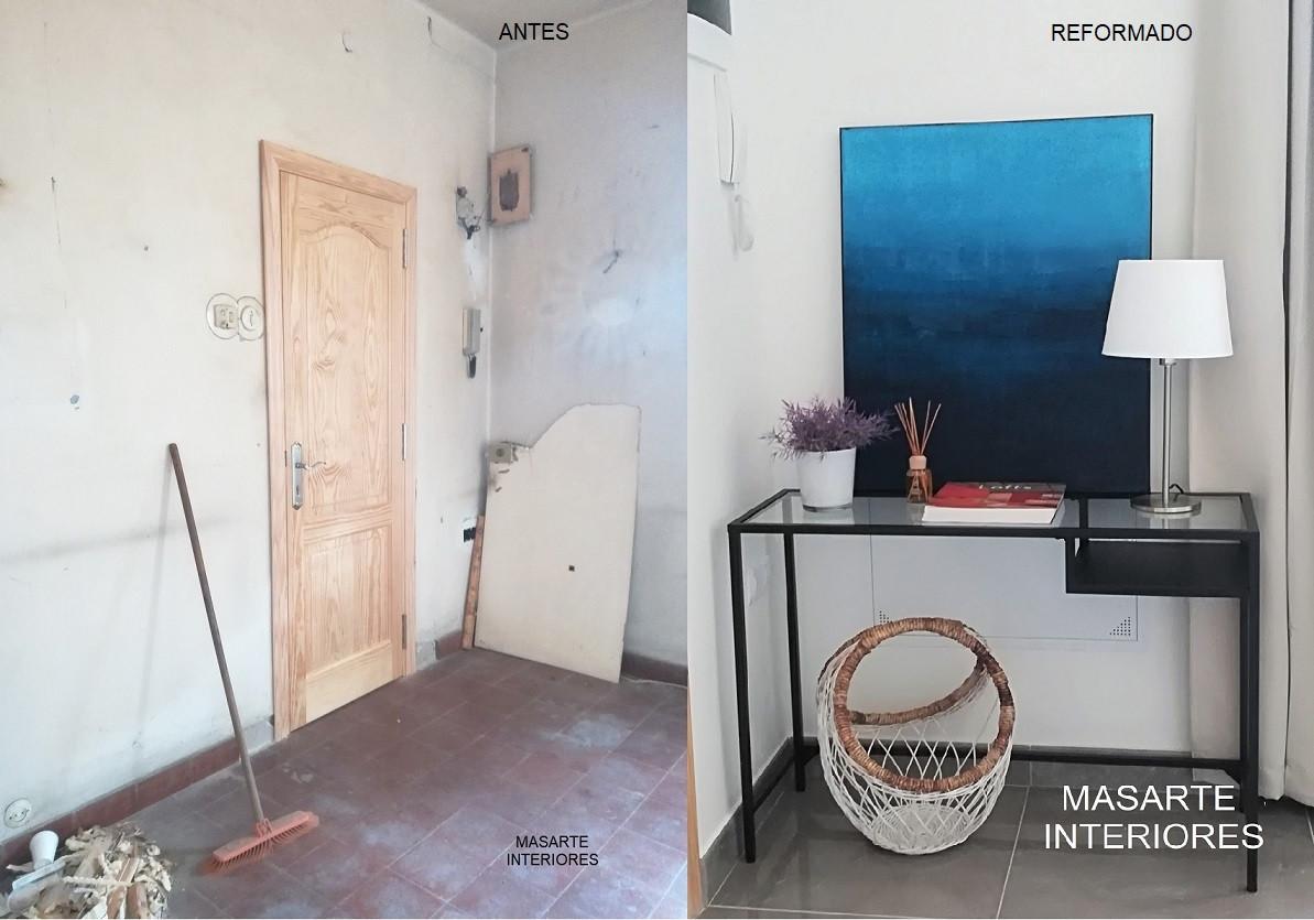 Recibidor antes y después