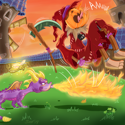 Spyro Toasts a Sheep Herder