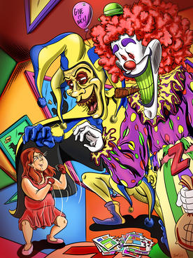 Annie Fights The Ghastly Grinner and Zeebo the Clown Commission