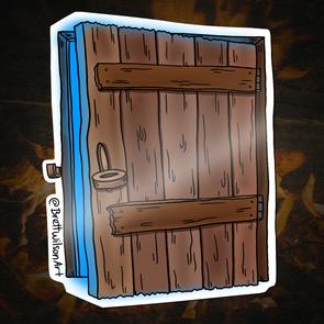 27b - Cellar Door Demon (Blue Light)