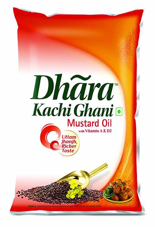 Dhara Kachi Ghani (Mustered Oil) 1L