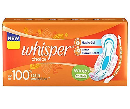 Whisper Choice Wings Regular 20s