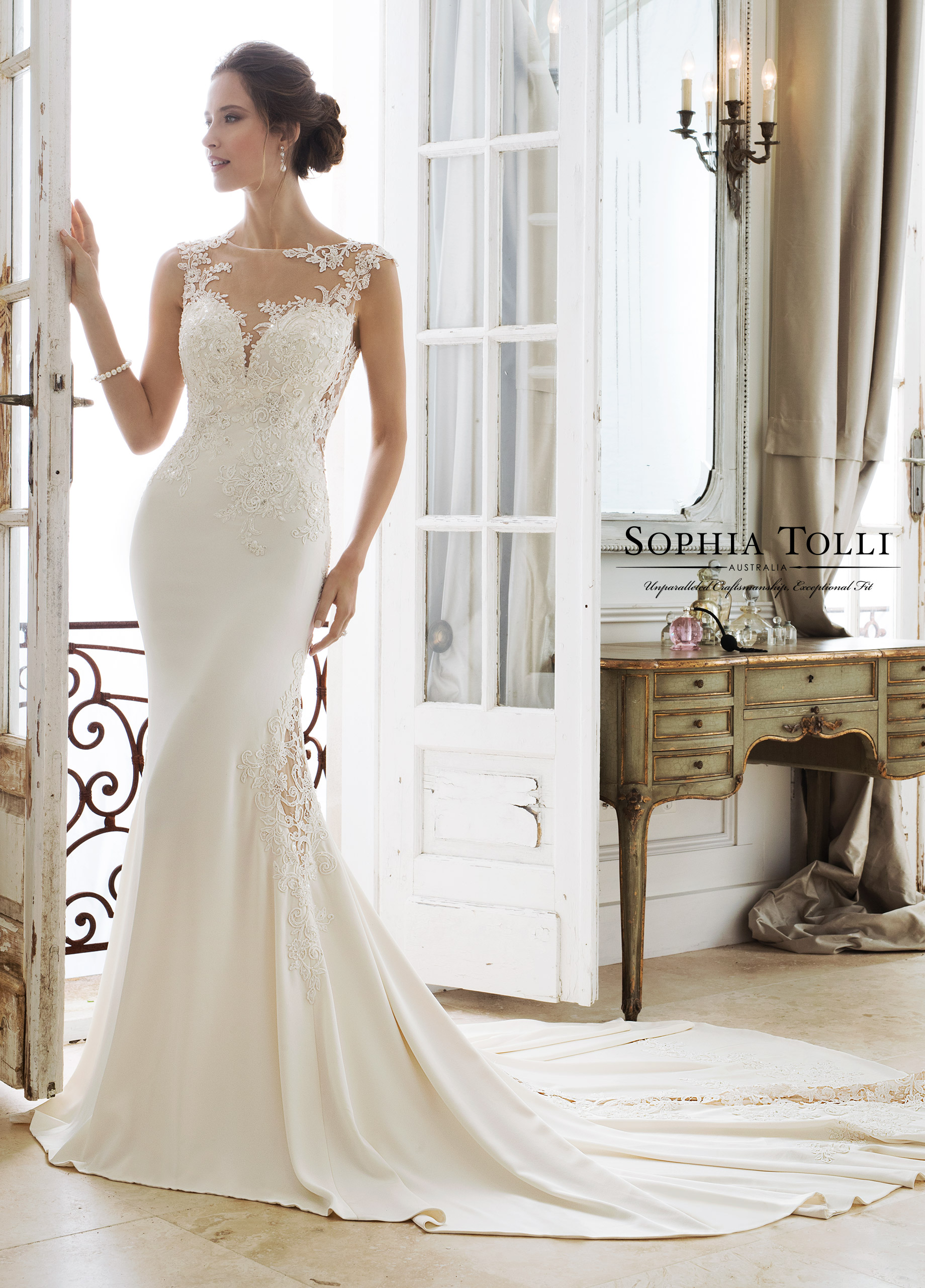 fitted-sheath-wedding-dress-Sophia-Tolli