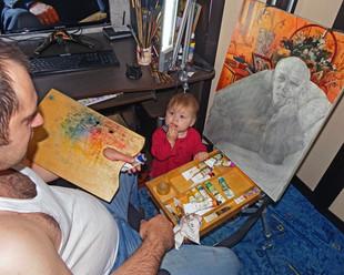 Дедушку рисовали