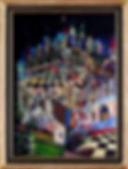 16. Карточный дворец. 2001 г. Холст, мас