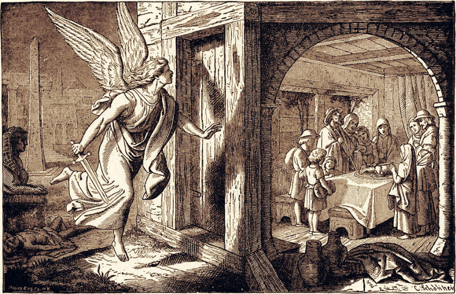 The Angel of Death and the First Passover, Charles Foster, 1897. Wikimedia