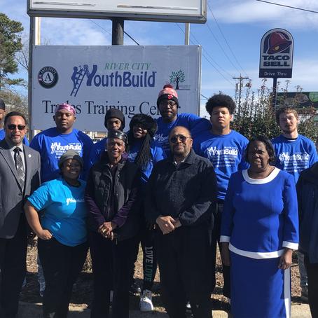 Representative Howard Hunter Visits River City YouthBuild