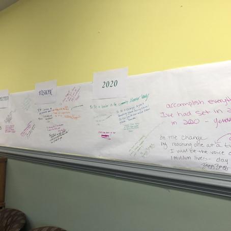 Chalk Talk in Visioning 2020 at YouthBuild