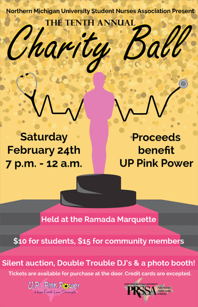 Graphic for the NMU Student Nurses Association Charity Ball.