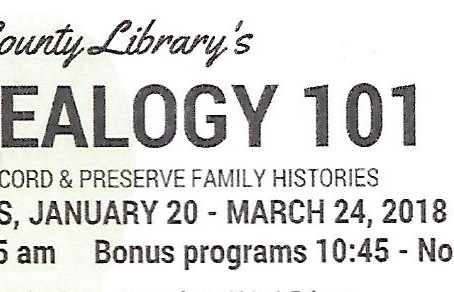 15th year for Genealogy 101