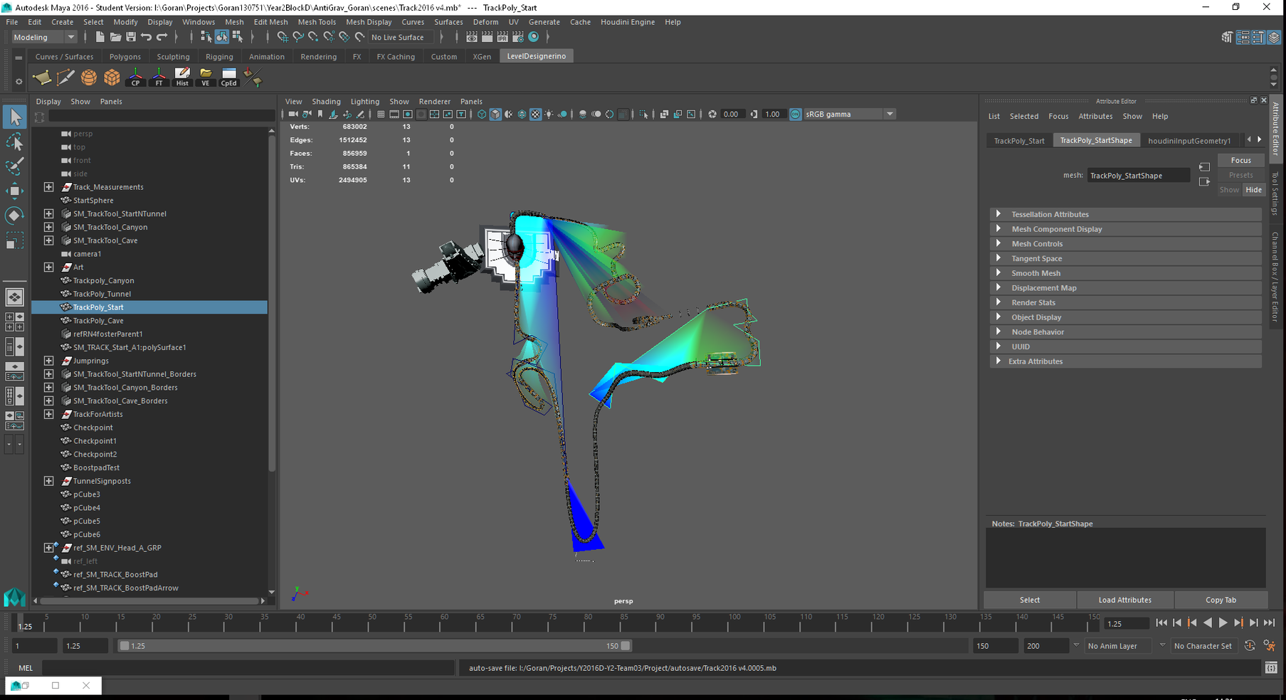 AGR - Level in Autodesk Maya