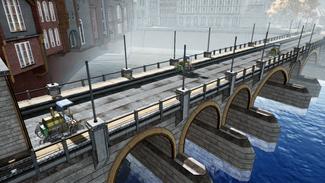 Car Race Level - Bridge Side View