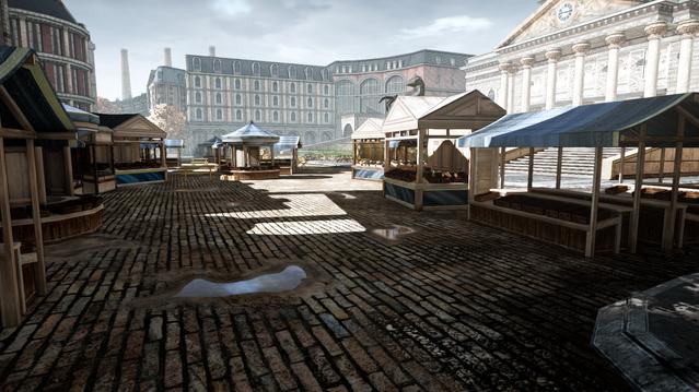 Car Race Level - Marketplace Stalls