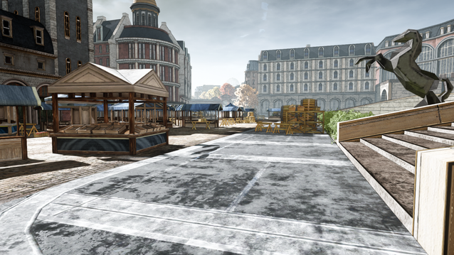 Car Race Level - Marketplace Stairs Lower
