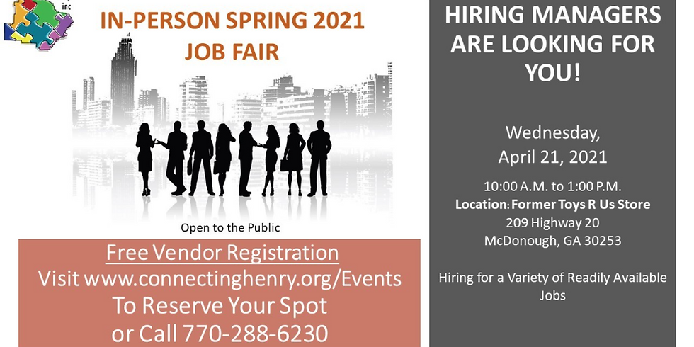In-Person Spring 2021 Job Fair