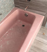 Bathtub Reglazing BEFORE Pink