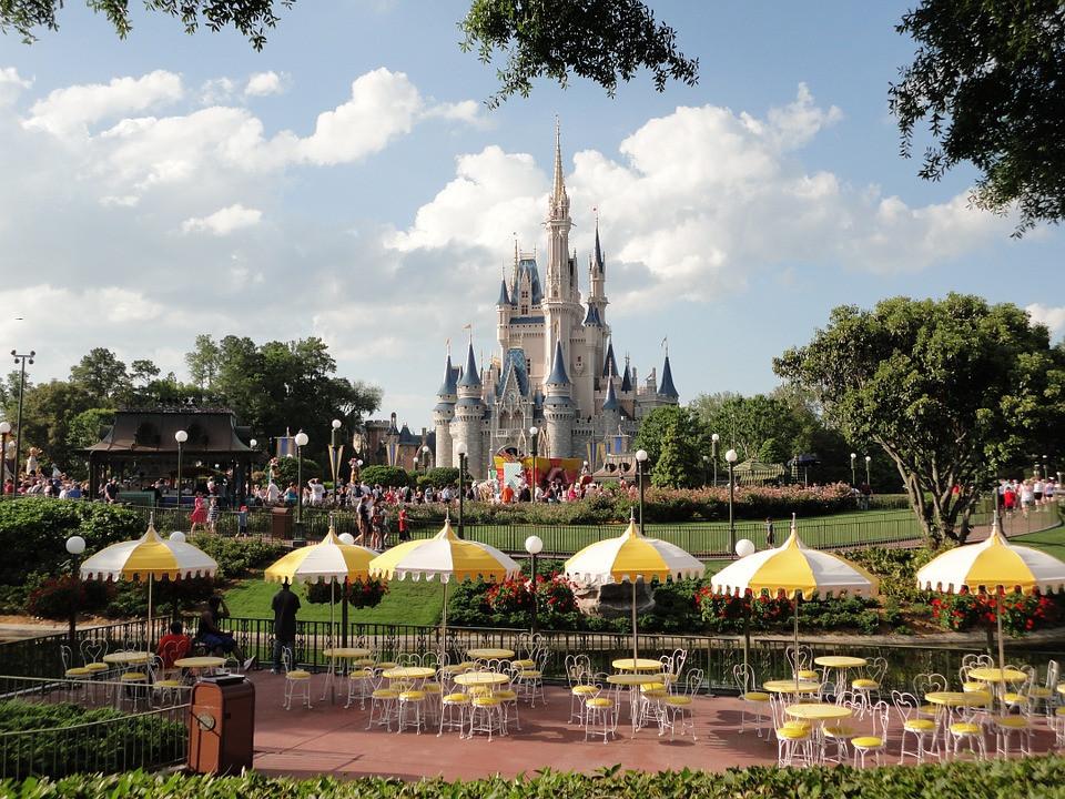 Beautiful sight of Disneyworld castle