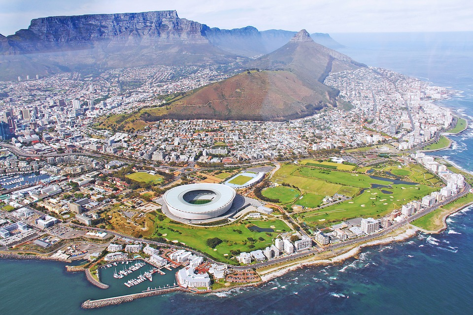 elicopter ride over cape town south africa