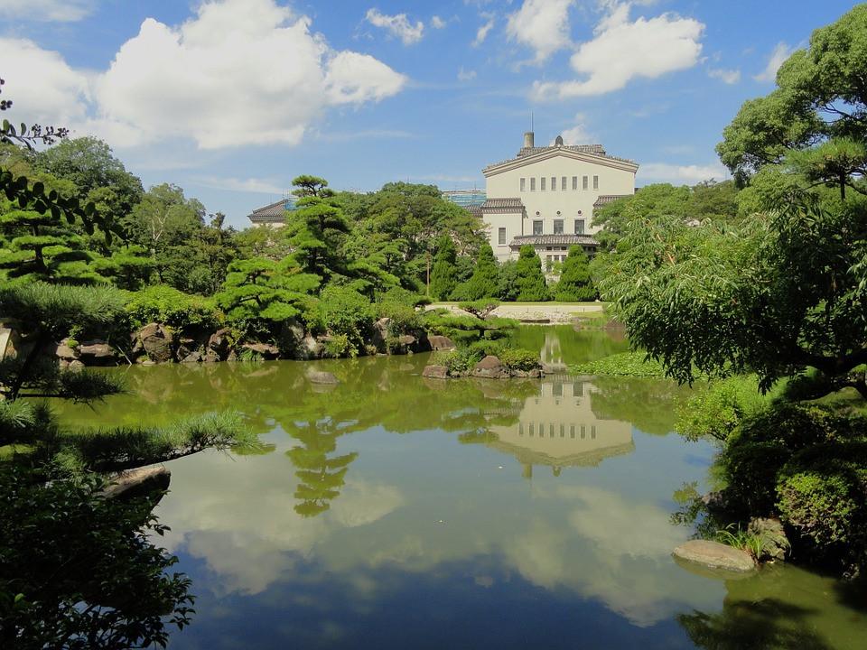 Osaka Japan, zen gardens