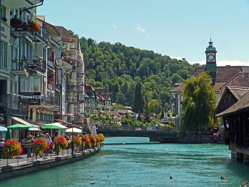 Switzerland downtown Thun
