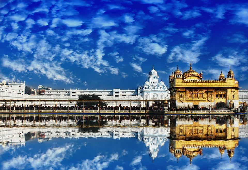 Harmandir Sahib, Amritsar, Punjab India, the golden temple is host to a festival
