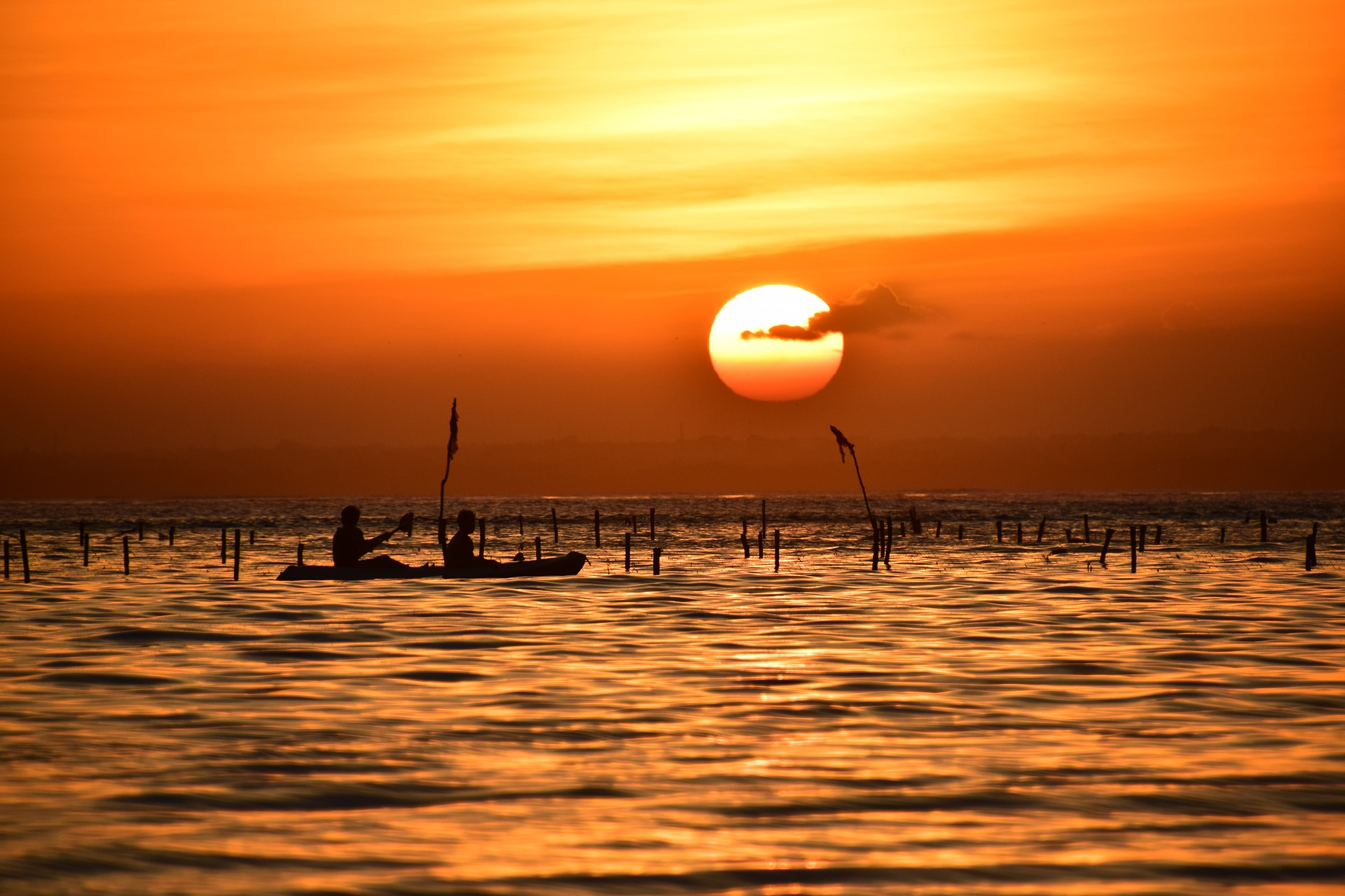 Bali beach sunset