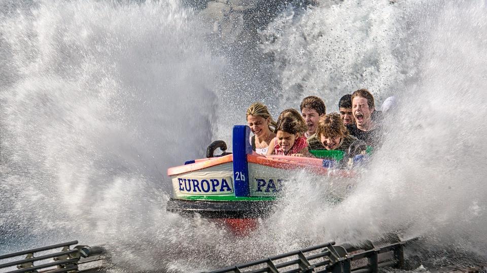 Europa park roller coaster ride