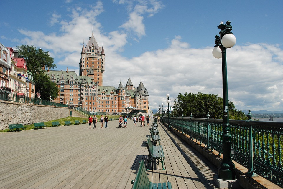 View of Chateau Frontenac and the board walk