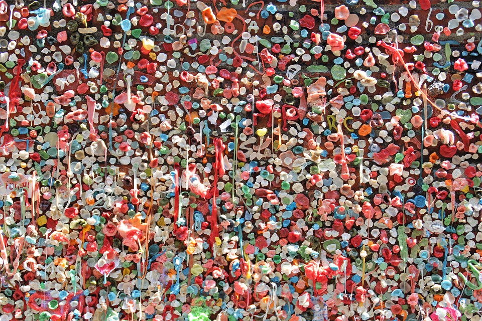 Wall of Gum, Seattle Washington