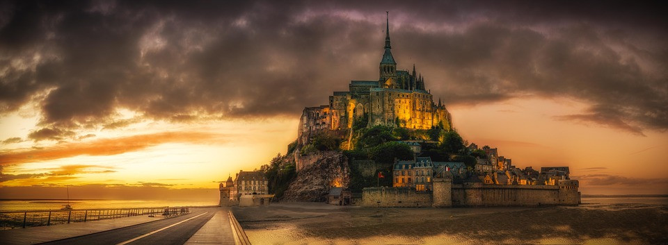 Mont St Michel Monastery, France