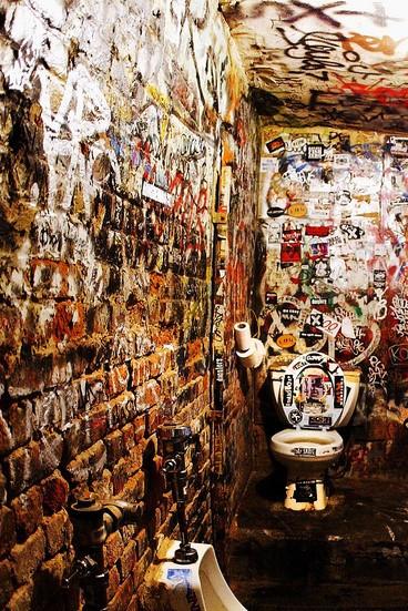 CBGB club bathrooms