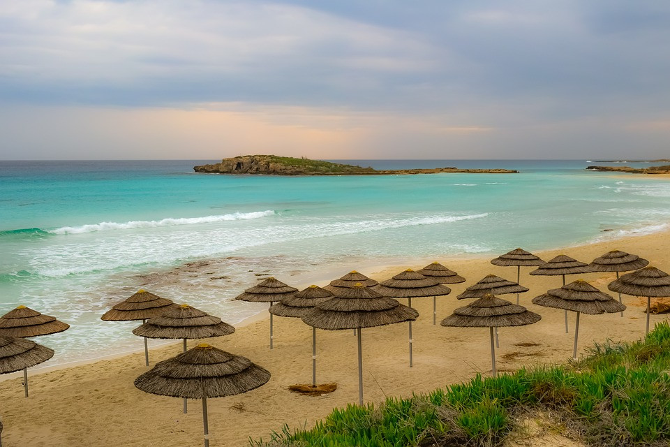 empty beach in Cyprus during the off season