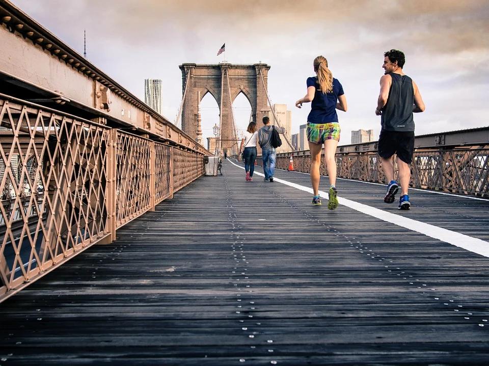 Enjoying a Run on The Brooklyn Bridge