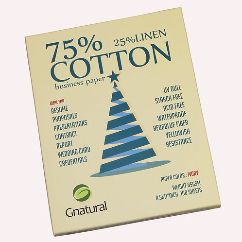 85gsm 75/25 cotton & linen paper (cream yellow)-No.GLYYT042 same item as Amazon