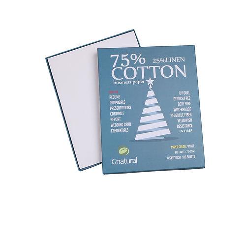 75gsm 75/25 cotton & linen paper ( white ) with UV fiber - No.CYT014