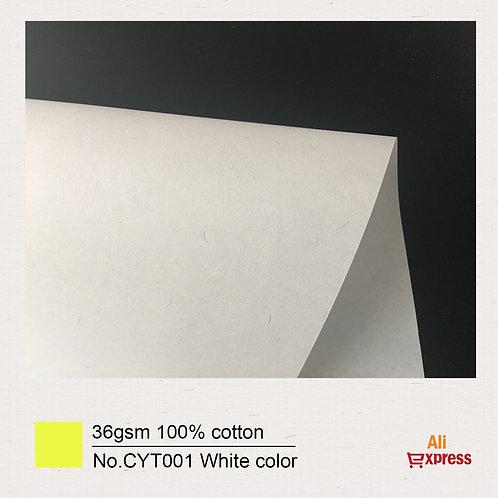 36GSM 100% cotton paper ( white ) -No.CYT001