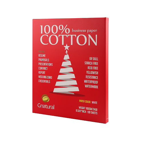 90GSM 100% cotton paper with watermark ( white ) -No.CYT003