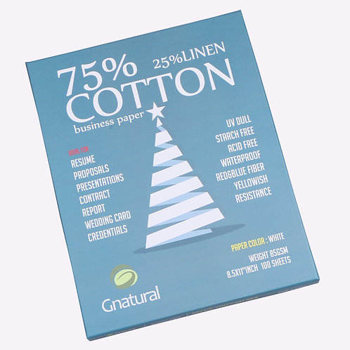 85gsm 75/25 cotton & linen paper ( white ) - No.MCYT006 same item as Amazon.com