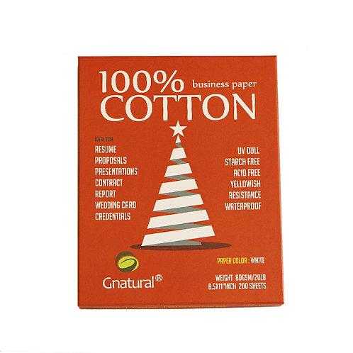 80gsm 100% cotton paper ( white ) - No.CYT015